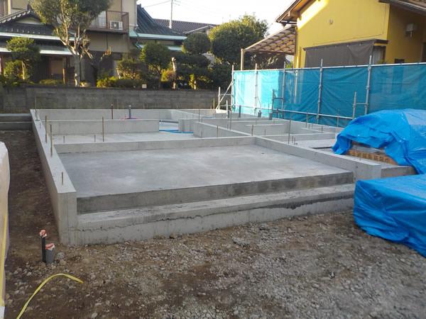 基礎コンクリート打ち完了
