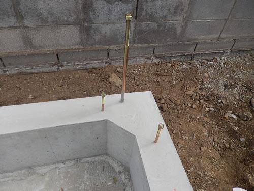 ベタ基礎+檜土台採用