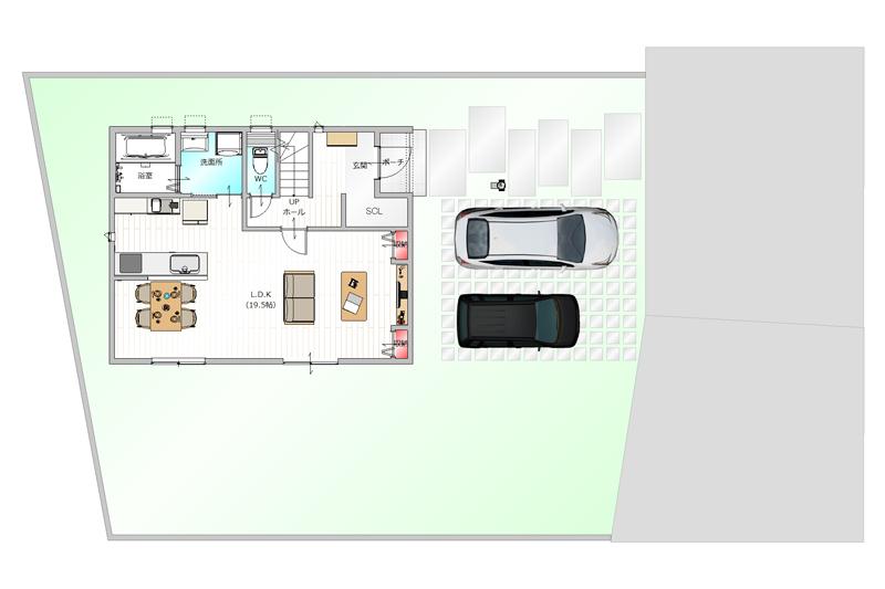 建物プラン例 全体図