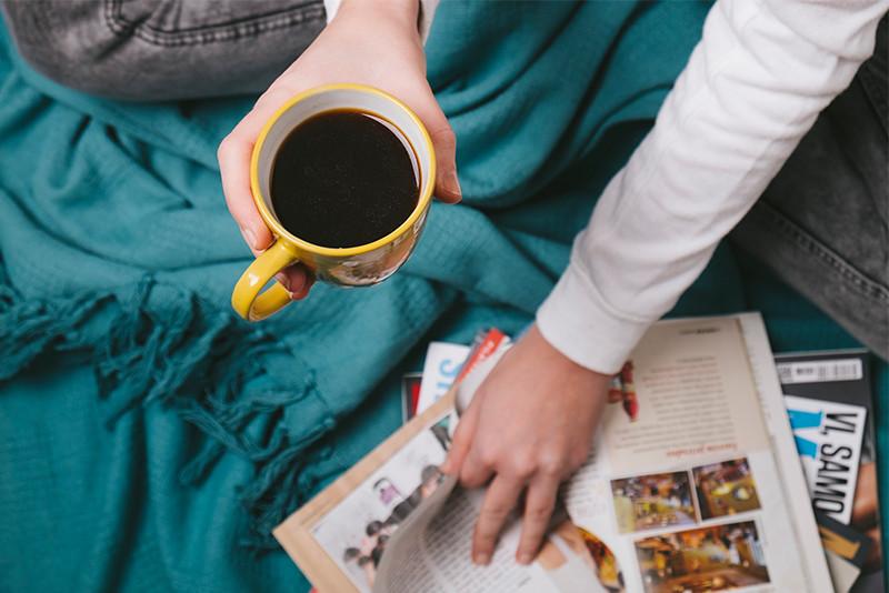 「雑誌を読みながらくつろぎたい」