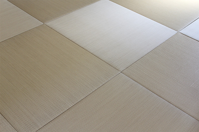正方形が特徴的な琉球畳